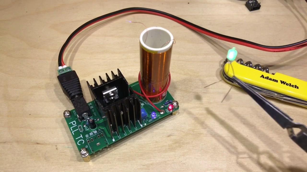 Mini Tesla Coil Plasma Speaker Kit Electronic Field Music 15W DIY Project