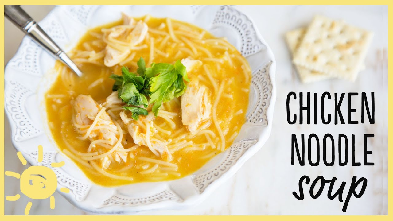 Eat chicken noodle soup youtube for How do you make chicken noodle soup