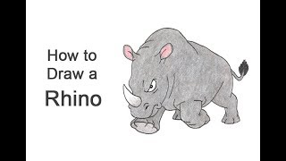 How to Draw a Rhinoceros (Cartoon)