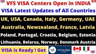 Vfs Global Opens In India Uk Usa Italy Canada Uae Visa Is Ready Updates Biometrics Flights Youtube
