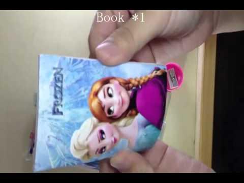 Frozen Stationery bags 2 Pencil  Eraser Pencil sharpener + Book + Straightedge Stationery Set