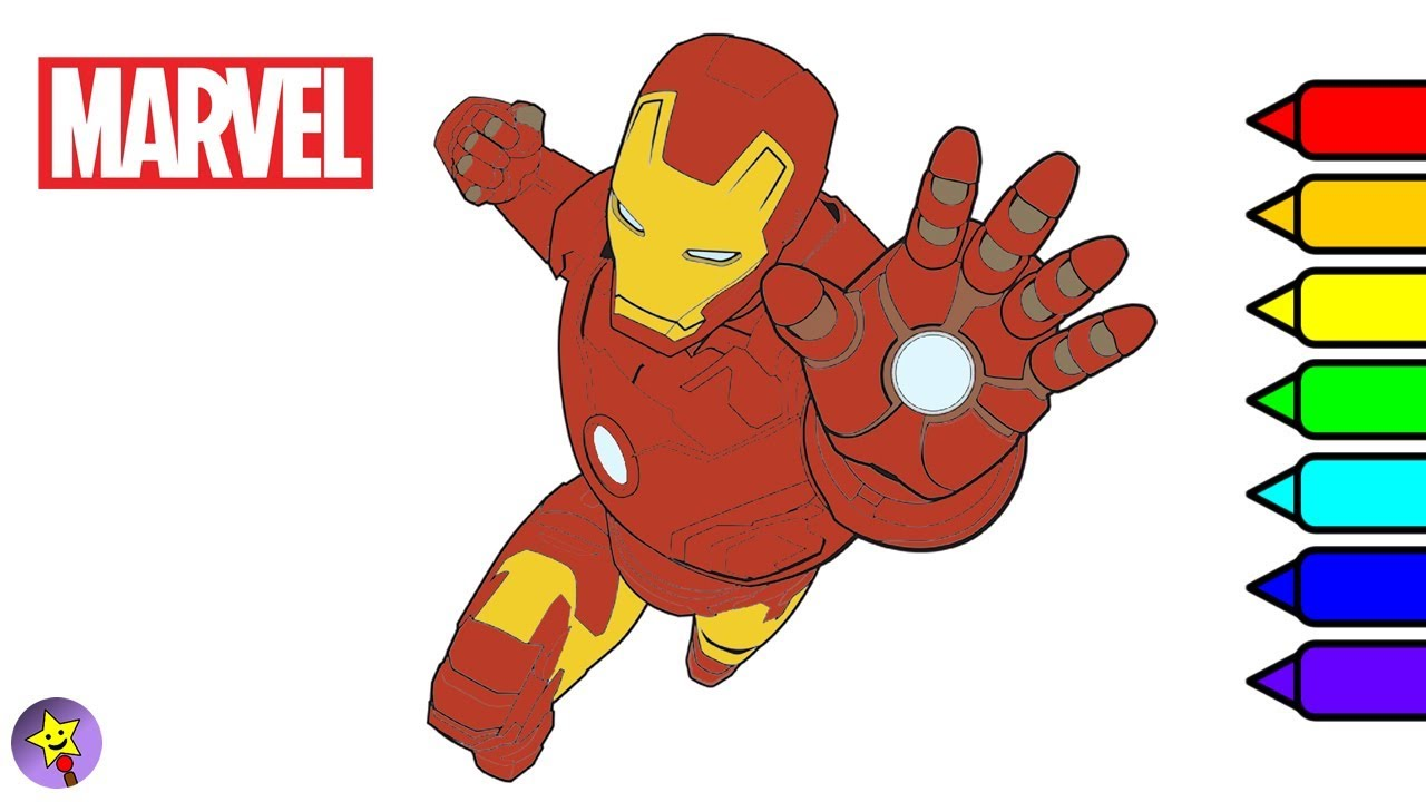 Marvel Avengers Coloring Book Iron Man Coloring Page Marvel ...