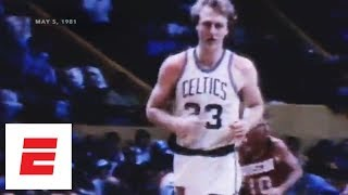 When Larry Bird's putback lifted Celtics over Rockets in 1981 NBA Finals   ESPN Archives
