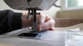 Швейная машина JAGUAR как заправить никту в иголку