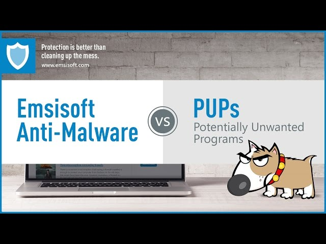 Emsisoft Anti-Malware vs PUPs