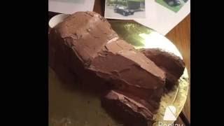 Как сделать торт в виде машины.(раритет)(3D)
