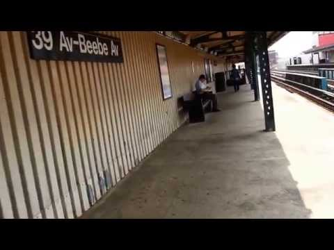 39th Avenue Subway Station (N,Q lines. Long Island City, Queens NYC 2014)