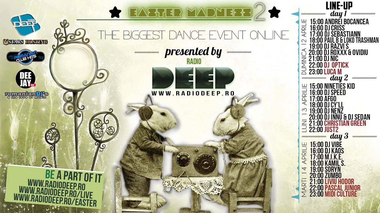 One Hour of Fame@RadioDeep with DJ Innu and Deejay SedaN (Easter Madness Special Edition)