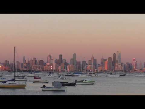Melbourne Spring Sunset Time Lapse Williamstown 16-11-2016