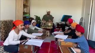 Children learning Shabed kirtan in Malhar institute Australia