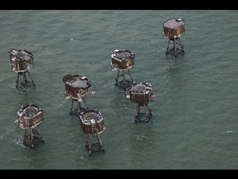 Thames WW2 Sea Forts, Aerial View