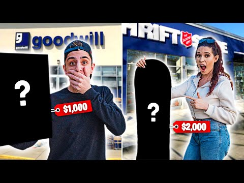 Who Can Find the MOST EXPENSIVE Item in a Thrift Store  Challenge