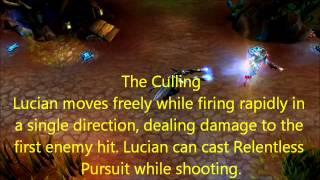 League of Legends - Lucian (skills / Passiv / Dance)