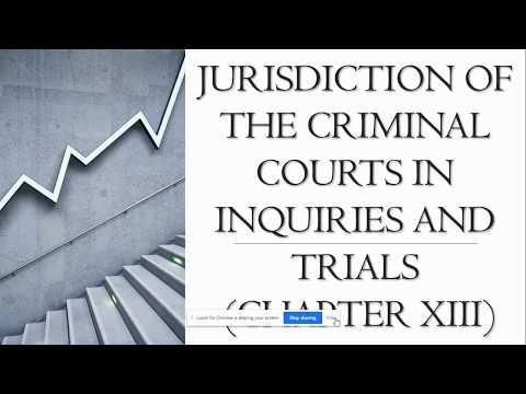 Jurisdiction of Criminal Courts | Law Pursuit