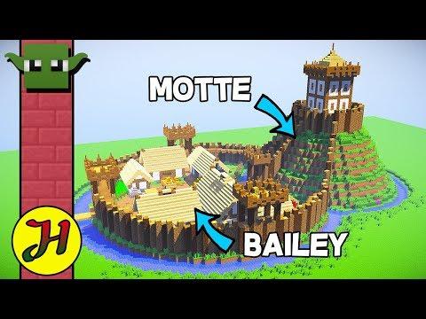 Minecraft Tutorial: Motte & Bailey Castle (Survival Village) - Part 1/2