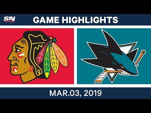 NHL Highlights | Blackhawks vs. Sharks – Mar 3, 2019