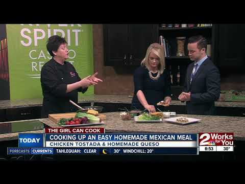 Cooking up easy homemade Mexican meal