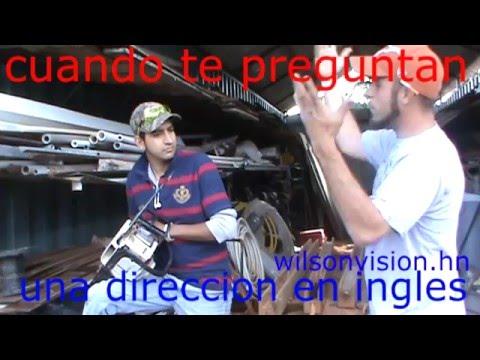 gringo preguntando una direccion a un hispano que no habla ingles.