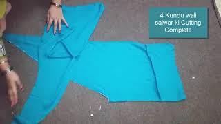 4 Kali Wali Salwar   4 kunde wali salwar   Cutting  & Stitching Step by Step   Easy to Learn  Salwar