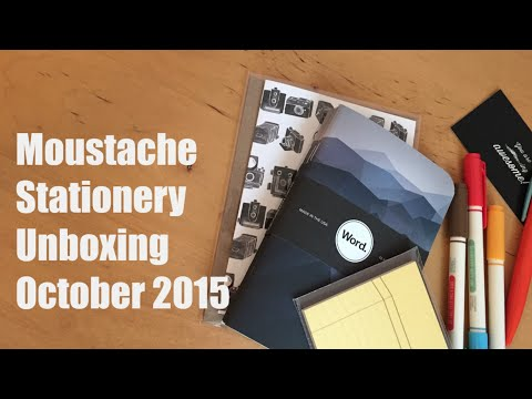 Moustache Stationery Unboxing October 2015