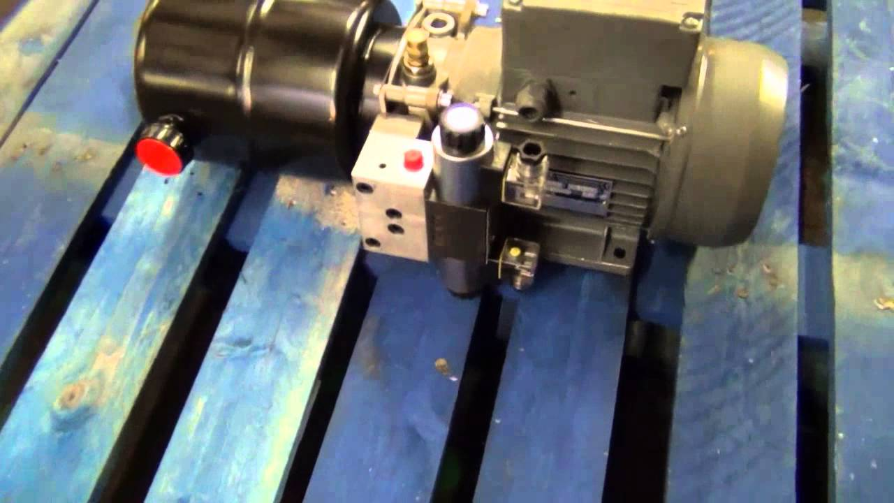 Mini Hydraulic Powerpack 110v Ac Motor Youtube