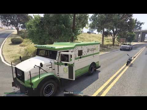 GTA V - biker MC business roleplay - stealing supply van and armored car, then a biker mission
