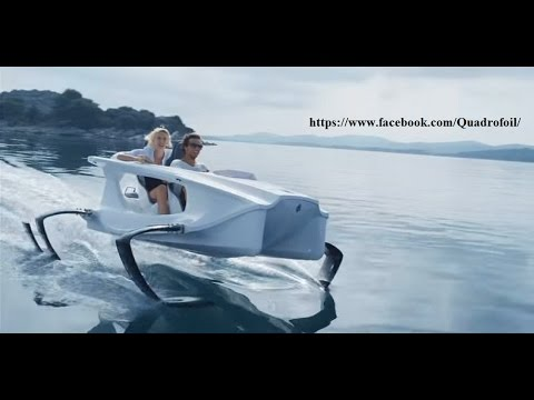 Quadrofoil Electric Boat....Music Trooper - We're here for a good time remix