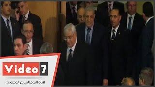 عدلى منصور ومحلب وموسى فى حفل تأبين عبد العزيز حجازى