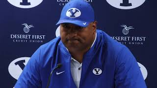 2018 BYU football: Kalani Sitake talks Cougars' 7-6 loss to Northern Illinois