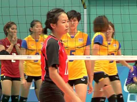 2558-06-12 HL วอลเลย์บอลหญิงซีเกมส์ ไทย ชนะ สิงคโปร์