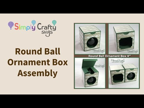 Round Ornament Ball Box for 4 inch Bulb Assembly