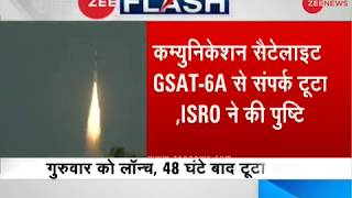 ISRO says contact with its communication satellite GSAT-6A lost