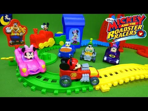 Mickey and the Roadster Racers Diecast Toys Mickey Mouse Clubhouse Motorized Train Track Set Toys