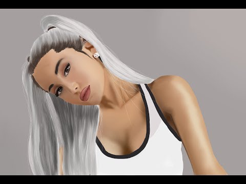 Ariana Grande Speed painting (Digital art in Photoshop using Huion 1060 Plus)