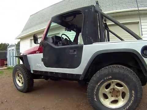 & Jeep YJ half doors on a Jeep TJ - YouTube