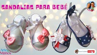Sandalias para bebé en Foami y Cintas