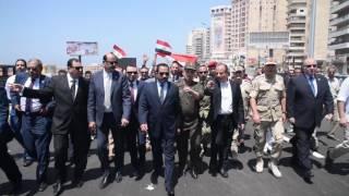فيديو| محافظ الإسكندرية يفتتح المرحلة الأولى من كوبري مصطفى كامل