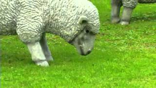 Outdoor Resin Sheep And Lamb Lawn Statues-plow & Hearth