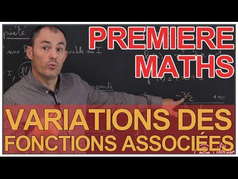Variations Des Fonctions Associees Derivation Maths 1ere Les