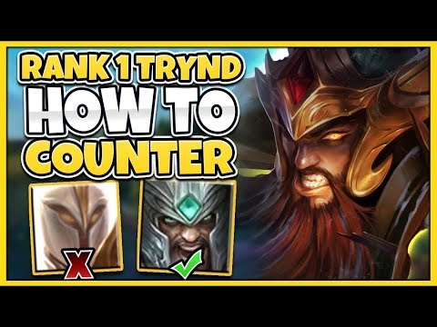 HOW TO 100% COUNTER KAYLE AS TRYNDAMERE (FT. INSANE BACKDOOR) - League of Legends
