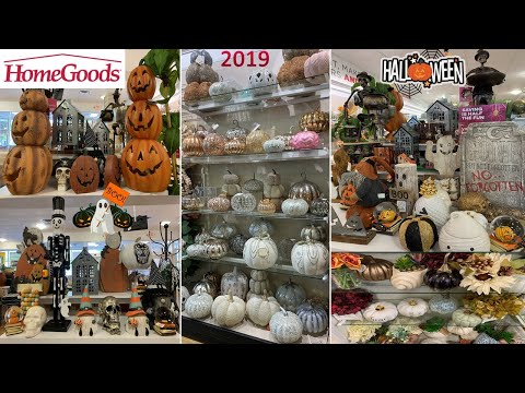 HALLOWEEN DECORATIONS at HomeGoods | Fall Decor Home Decor | Shop With Me August 2019