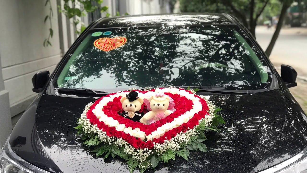 Hướng dẫn ráp xe hoa | xe cưới | trang trí xe hoa cô dâu | how to wedding car decoration | Tường An
