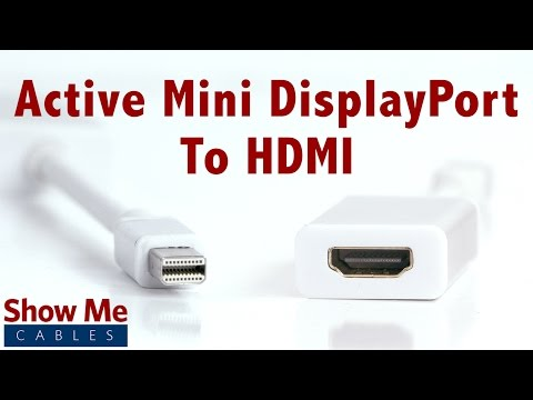 4K Ultra HD Active Mini DisplayPort To HDMI Adapter - Makes Video Easy #3856