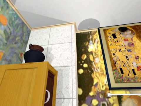 Confidential Designs- Klimt 3D Bathroom- A PANNING GLIMPSE