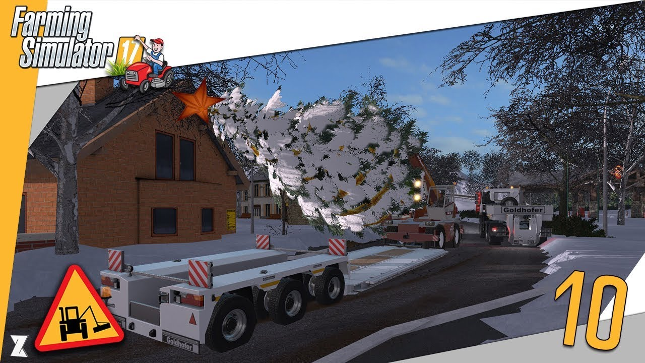 farming simulator 17 entretien communal 10 convoi et installation du sapin et d cos de no l. Black Bedroom Furniture Sets. Home Design Ideas