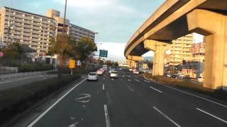 【高速バス前面展望】広島BCからアストラムライン中筋駅