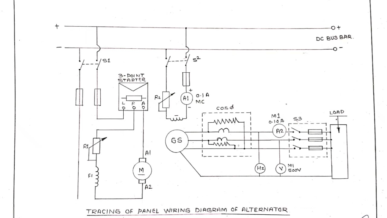 Tracing Of Panel Wiring Daigram Of Alternator