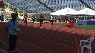 200m men heat 3 at the Sunrise Meet 2015