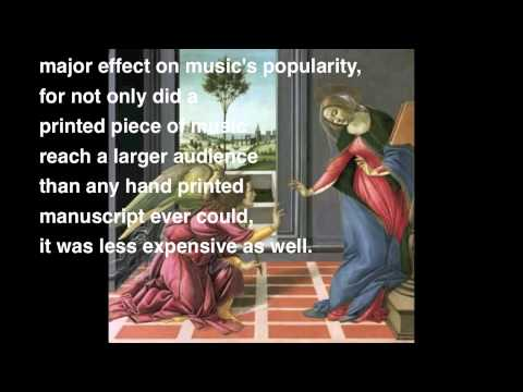 History of Music Notation video - Narrated by Ruth Ann Galatas