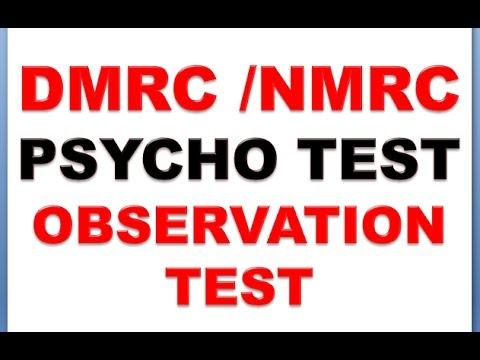 DMRC/NMRC PSYCHO TEST ----- OBSERVATION TEST